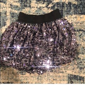 Girl sequin skirt. Size 4. Only worn once.